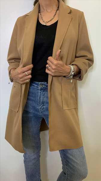 מעיל כיסים קאמל