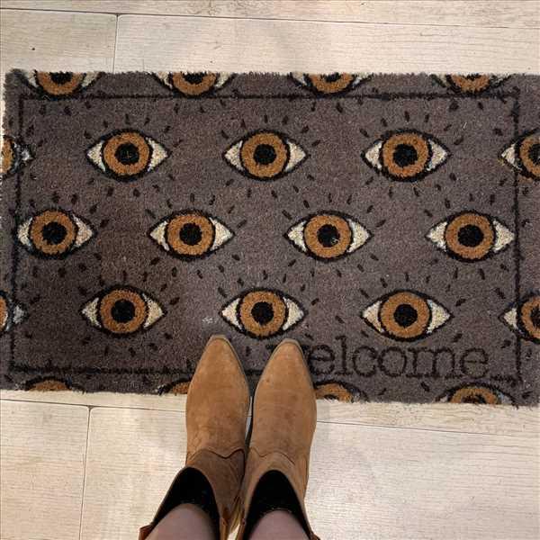 שטיח קוקוס עין אפור