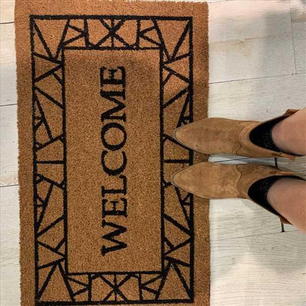 שטיח קוקוס welcome