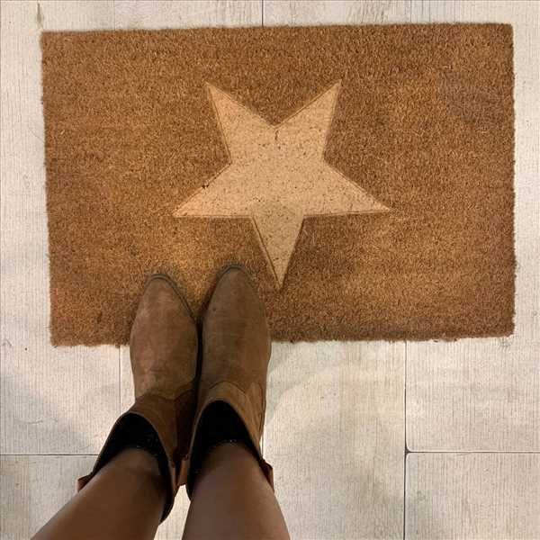 שטיח סף קוקוס כוכב