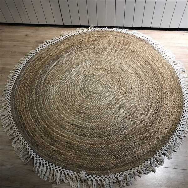 שטיח קש עגול פרנזים בז