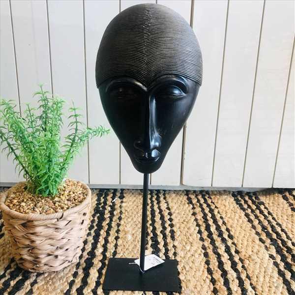 פסל מסיכה אפריקאית שחור